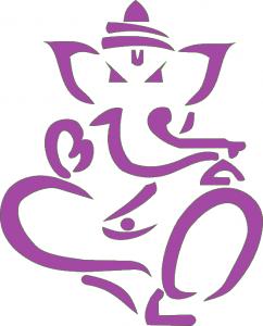 ganesha logo paars def